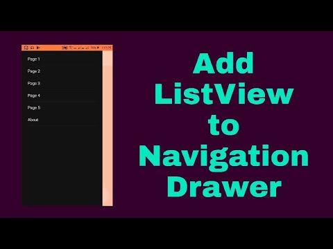 Add ListView to Navigation drawer in Sketchware