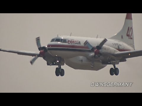 Convair CV-580 C-GYXC My First Fire Tanker Capture @ Moses Lake KMWH
