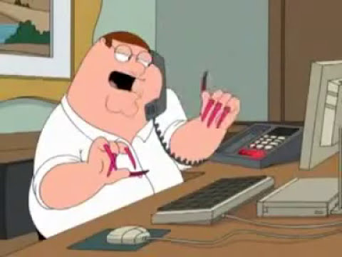 Family Guy - Peter Griffin with Acrylic Nails