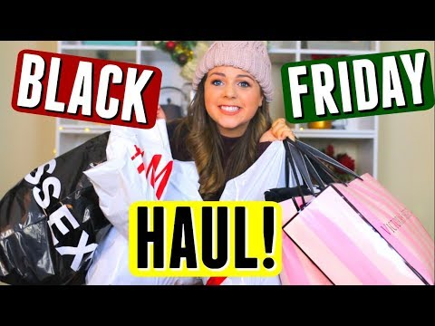 HUGE BLACK FRIDAY Haul 2017 & Try On! Black Friday Shopping!