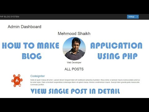 PHP BLOG Application - View Single Post in Detail Part-9