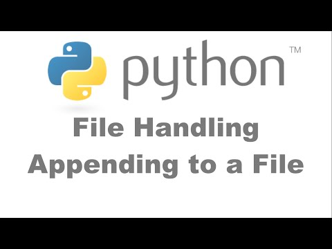 File Handling Appending to a File[HD 1080p]