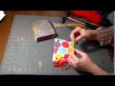 Simple Stab Bound Book Making Instructions/Tutorial
