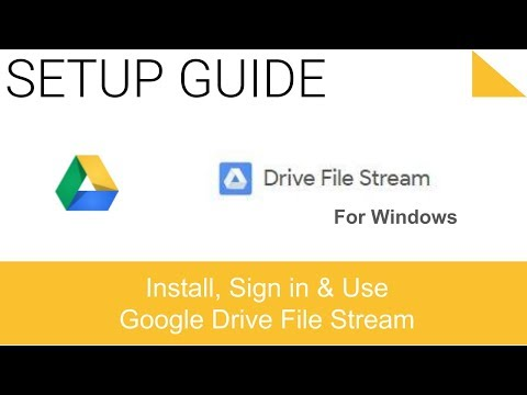 Install Google Drive File Stream on PC