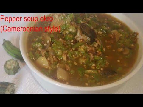 Pepper soup okro (Cameroonian style) episode 13