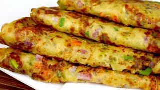 बिना तेल के बनाये ब्रेड का पौष्टिक नाश्ता जो ५ मिनट में बन कर हो तैयार  Bread Paratha Breakfast