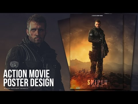 Create an Action Movie Poster Manipulation Effects Photoshop Tutorial