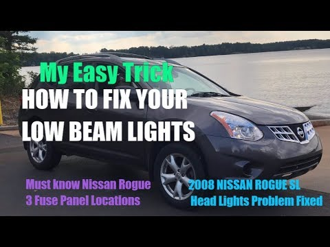 2008 Nissan Rogue Head Lights Not Working SOLVED Head Light Fuse Locations and 3 Fuse box Locations