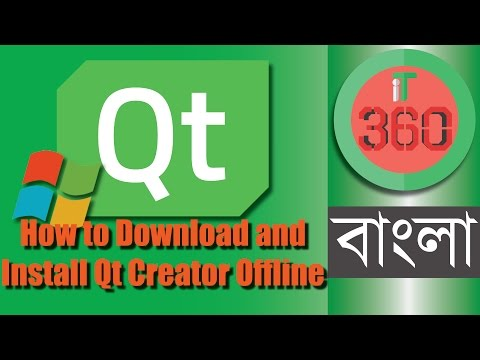 Install Qt Creator IDE (VS) Offline on Windows PC (Open Source Version) [Bangla] || Fully Offline