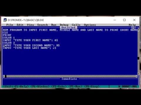 QBasic Program to Print Short Name from supplied Full name