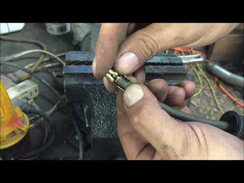 how to crimp or repair spark plug wires DIY do it yourself