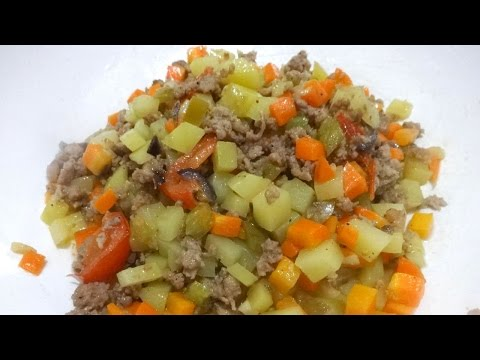 Giniling / Ground Pork With Vegetables