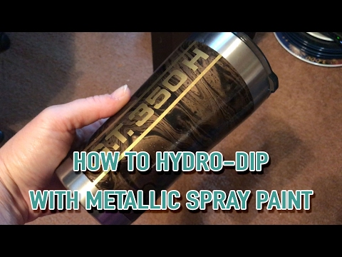 Hydro Dipping An Ozark Tumbler With Metallic Spray Paint
