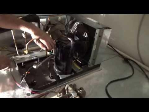 Compressor change on walk in cooler