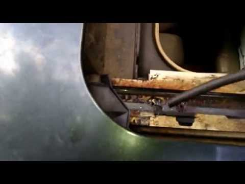 Easy way to clean sunroof drains