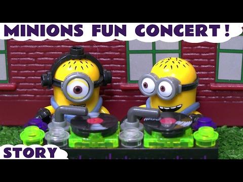 Minions Fun Concert with Thomas & Friends Surprise Eggs and Lego Batman Bags Despicable Me TT4U