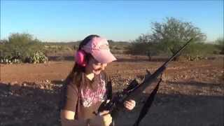 Taylor and her Weatherby Vanguard 308