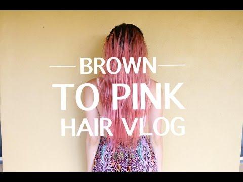 Brown To Pink Hair Vlog!
