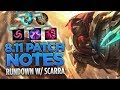 Patch Notes 811 WScarra