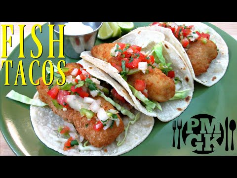 Crispy Fish Tacos - Deep Fried or Oven Baked - PoorMansGourmet