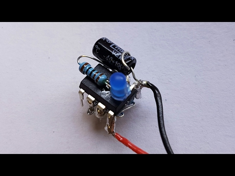 PCB? What PCB? - Building a tiny but functional NE555 timer circuit. (electronics tutorial)