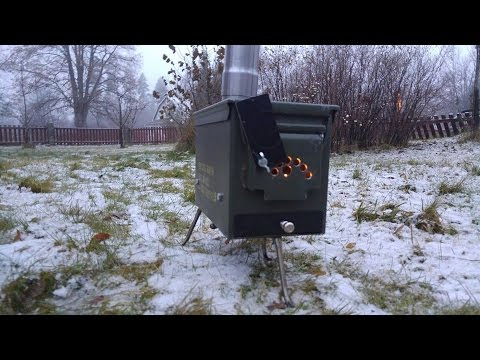 Making an ammo box tent stove without welding