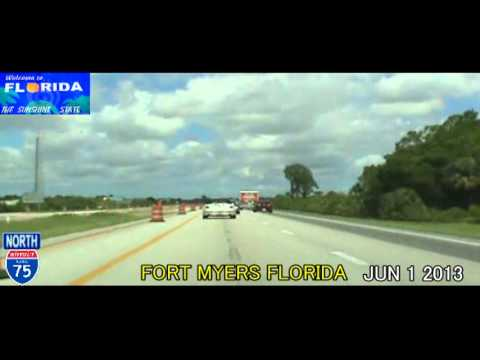 Homestead FL to Tampa FL Time Lapse Drive