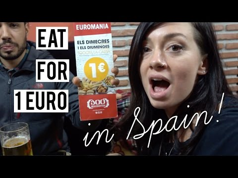 How To Eat for 1 Euro In Spain