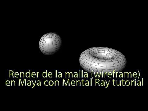 Renderizar malla wireframe en Maya tutorial