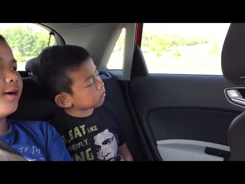 Kid falling asleep in the car. SO CUTE AND FUNNY!!