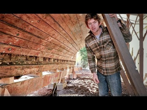 8. Removing her Keel ( & the return of the building inspector ) - Rebuilding Tally Ho EP8