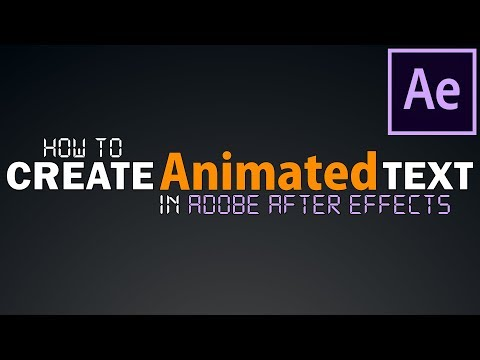 How To Create Professional ANIMATED TEXT in After Effects FAST | Tutorial