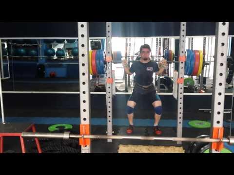 Pin squat 195kg x1