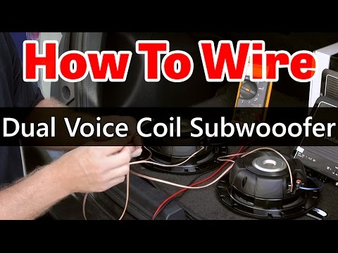 Dual Voice Coil Subwoofer wiring - Dual 2 ohm coils