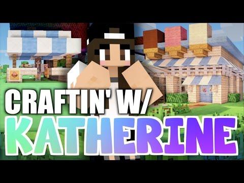 Minecraft Ice Cream Shop! Craftin' w/ Katherine Ep.5