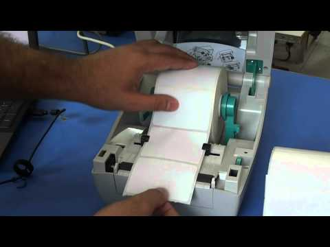 How to replace roll to print barcode labels on zebra thermal printer