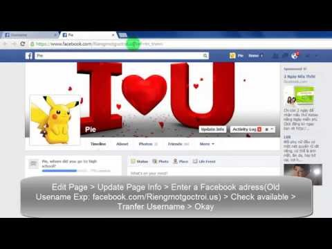 Change Facebook username and page web address  | Thay đổi địa chỉ username facebook url