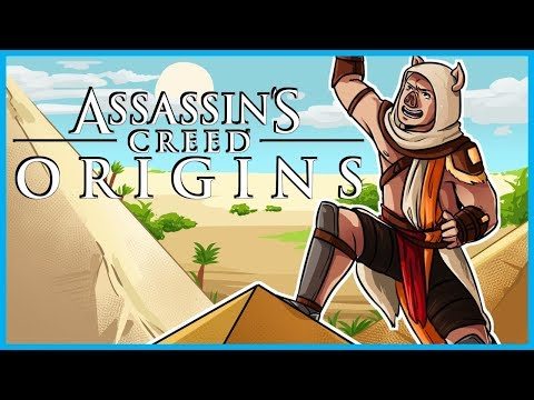EXPLORING THE GREAT PYRAMIDS OF GIZA!! - Assassin's Creed Origins Funny Moments #5! (AC Funtage)