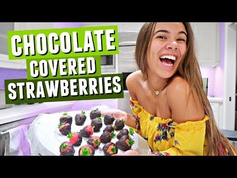 BAKING WITH ADELAINE! ratchet and easy chocolate covered strawberries