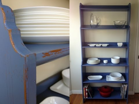 How to ANTIQUE a WOOD shelf : Half Idiot's Guide