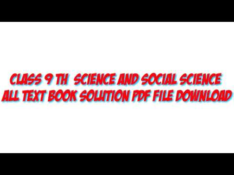 Class 9 science and social all solutions pdf file download