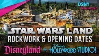 Star Wars Land Rockwork & Opening Dates for Disneyland & Walt Disney World - Disney News - 10/17/17