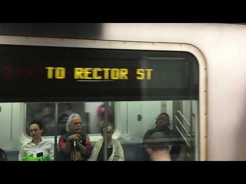 On-Board a Rector Street bound R142 (2) Train from Times Square-42nd Street to Rector Street
