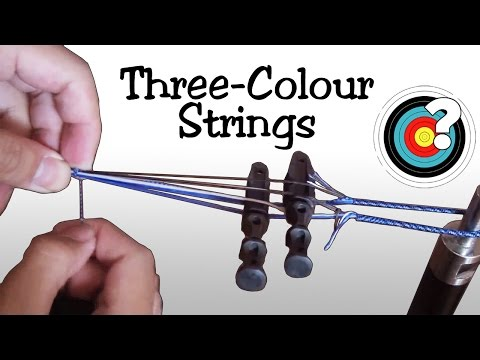 Archery | Making A Three-Colour Endless Loop Bowstring
