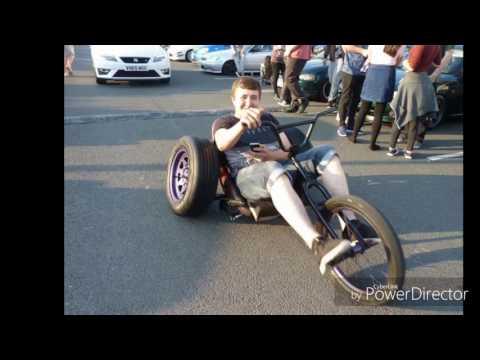 Custom stanced slammed  trike bmx