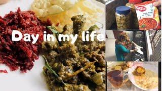 Day in my life/ Recipes of  കേരളാ വീശി പൊറാട്ട/ ചേമ്പും തണ്ട് കറി / നാരങ്ങാ അച്ചാർ / ബീഫ് വരട്ടിയത്