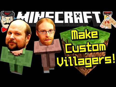 Minecraft MAKE CUSTOM VILLAGERS! Any Player!