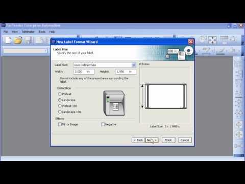 BarTender Barcode and Label Design Software - Label Page Setup Video