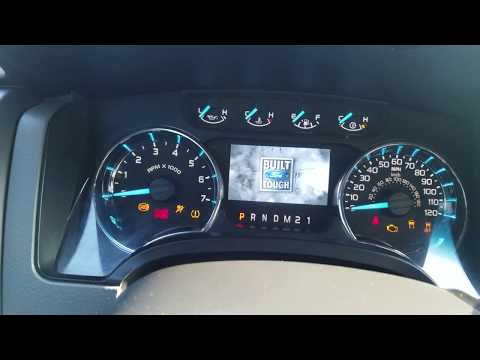 How to reset oil light on a 2011 Ford F150
