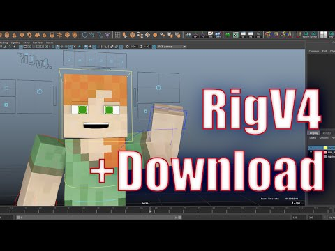 Minecraft Rig For Maya (Download in Description)